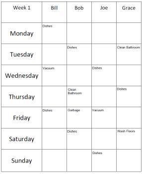 Roommate Chore List Template & Creator - DIY Landlord Forms